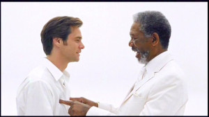 Bruce Almighty movie correct concerning Dominion