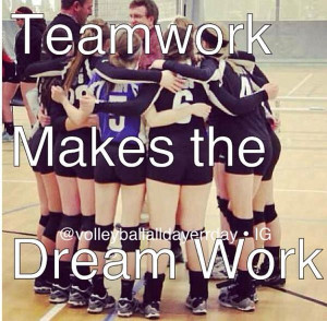 Teamwork quotes volleyball