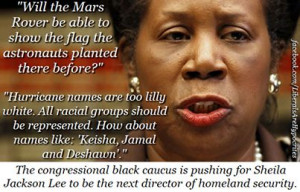 Sheila Jackson Lee quotes OMG, she is such an idiot. She will more ...