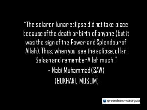Lunar & Solar Eclipses: An Islamic Perspective