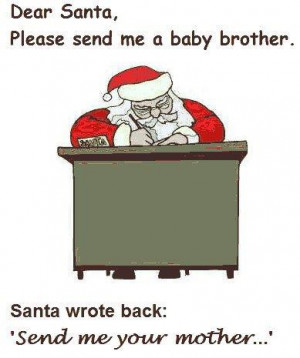 dear santa can I have a baby brother