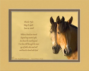 Personalized Memorial Gift Horse Faces
