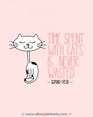 FREE printable cat quote wall art