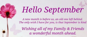 Happy New Month! Inspirational Quotes For September 2014