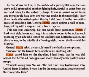 "Addendum : General Mattis — nom de guerre ""Mad Dog"" — has a ..."