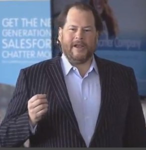 Marc Benioff started his first small business,, Liberty Software ...
