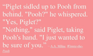 Pooh Bear Quote by KathyAhrens