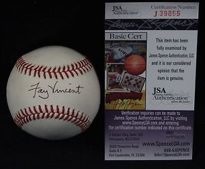 Fay Vincent Signed Autographed Official Bobby Brown MLB Baseball JSA