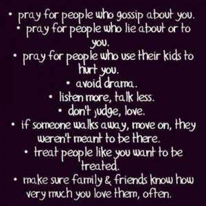 quotes #avoid #pray #gossip #love #lie #rumors #kids #weapons #drama ...