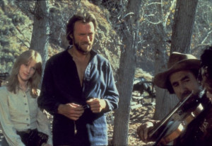 ... of Clint Eastwood and Sondra Locke in The Outlaw Josey Wales (1976