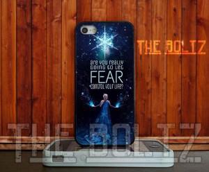 Queen Elsa Frozen Quotes Glitter for iPhone 4/4s/5/5s/5c - iPod 4/5 ...
