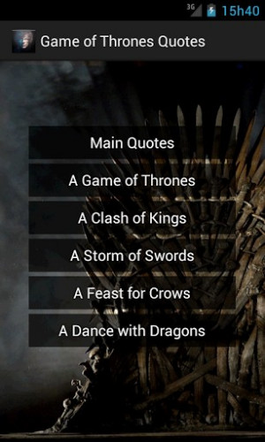 View bigger - Game of Thrones Quotes for Android screenshot