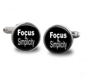 Steve Jobs Quote FOCUS & SIMPLICITY Quote - Handmade Cuff Links ...