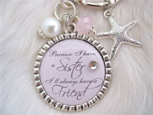 SISTER Wedding Quote Bridal Jewelry Gift pendant, engagement jewelry ...