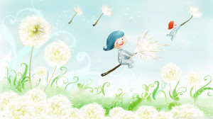 Dandelions Facebook Cover Fly away on dandelions