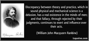 Discrepancy between theory and practice, which in sound physical and ...