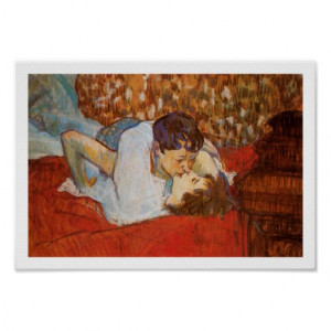 the_kiss_art_poster_henri_de_toulouse_lautrec ...