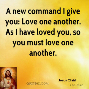 jesus love one another quotes