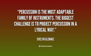Percussion is the most adaptable family of instruments. The biggest ...