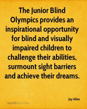 Junior Blind Olympics provides an inspirational opportunity for blind ...