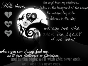 galleries related jack and sally nightmare before christmas quotes ...