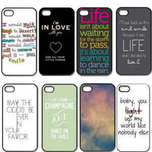 New One Direction Quotes Cell Phones Cover Case for Apple iPhone 5 and ...