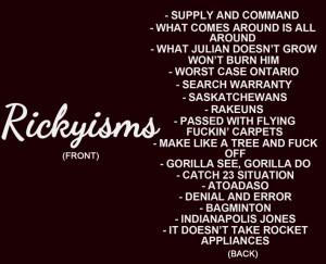 Rickyisms Trailer Park Boys T-Shirt