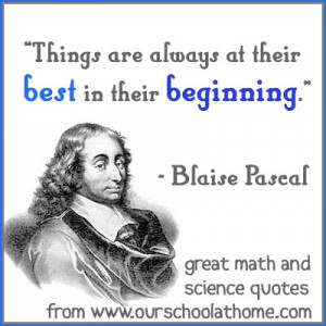 ... off a fun new series: Quotes by great mathematicians and scientists