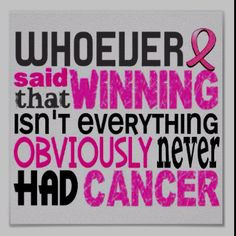 Thank you Chemo 4 Champions! This made me tear up...SO true! More