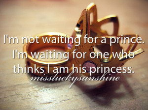 ... , prince, princess, quote, quotes, text, thinks, tumblr, waiting