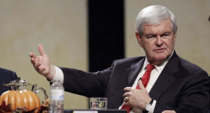 Newt Gingrich speaks during the Thanksgiving Family Forum sponsored by ...
