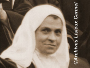 St. Therese and Sister Marthe in a small dispute at the door of the ...