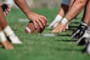 Football line of scrimmage - David Madison/ Photographer's Choice RF ...