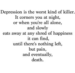 ... poetry is suicide depression poetry as the poems pain were definately