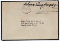 1924 presidential widow free frank of Florence Kling Harding