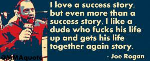 Joe Rogan on success stories
