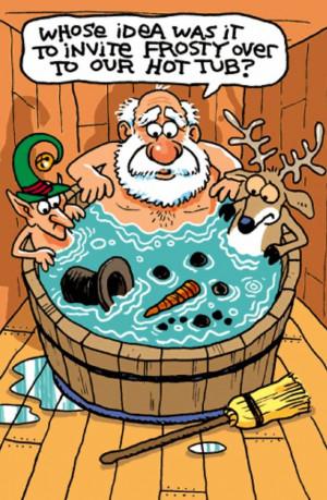 Santa's hot tub party