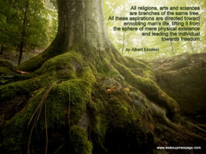 Quote by Einstein on We are all from the same