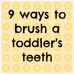 ... each time his mouth is open, sneak in a couple seconds of brushing