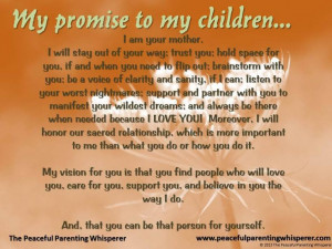 My promise to my children...