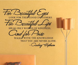 Beautiful Eyes Removable Vinyl Wall Poet Art Word Sticker DIY Girls ...