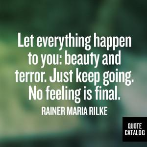 Rainer Maria Rilke on Quote Catalog
