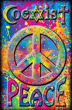 peace sign coexist hippie psychedelic art quotes peace quotes colors ...