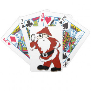 SANTA'S SECRET HELPER BICYCLE POKER CARDS