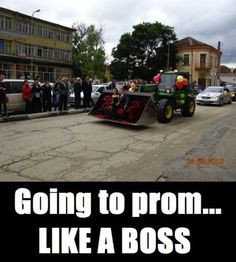 Redneck limo! I'm going ahead and SAYING NO More