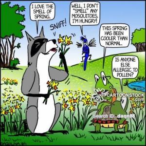 Allergies cartoons, Pollen Allergies cartoon, funny, Pollen Allergies ...