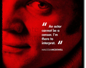 Malcolm McDowell Original Art Print With Quote - Photo Poster Gift ...