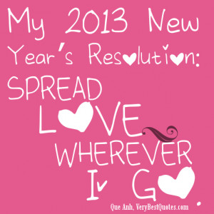 New Love Quotes My new year resolution love