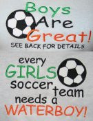 soccer girls water boys 2 designs 5x7 only a must have for any girl ...