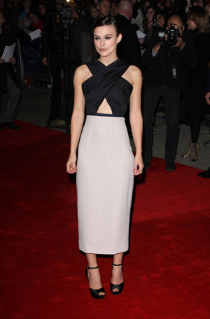 """Keira Knightley attends the premiere of """"A Dangerous Method"""" in ..."""